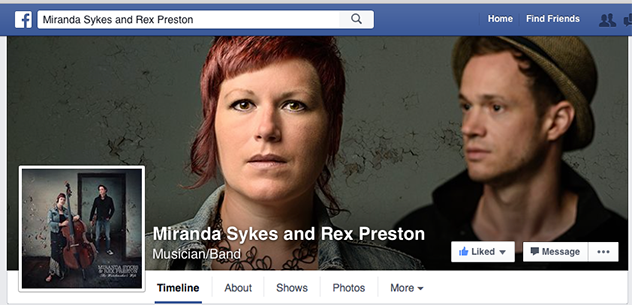 Miranda Sykes and Rex Preston Facebook Page